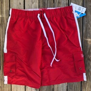 🎉HP 9.8.17🎉 LAGACI Men's Classic Swim Trunks RED